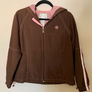 Green Tea brown and pink jacket with…